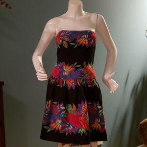 Vintage A.J. Bari 80's Strapless Party Dress Sz 4